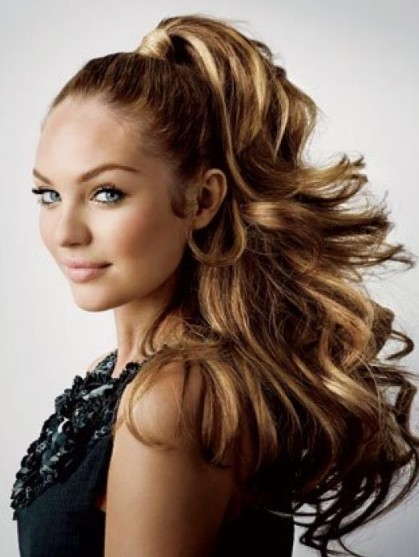Prom High Ponytail Hairstyles 2012