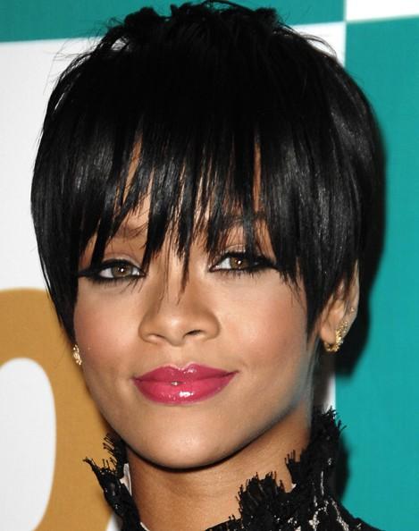 Rihanna Black Pixie Haircuts