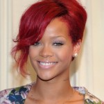 Rihanna French Twist Haircuts 2012