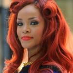 Rihanna Long Layered Hairstyles 2012