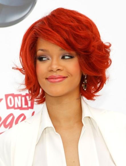 Rihanna Medium Hairstyles 2012