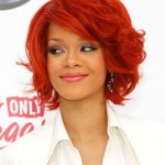 Rihanna Medium Hairstyles 2012