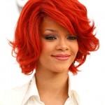 Rihanna Medium Layered Hairstyles 2012