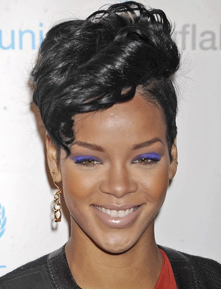 Rihanna Short Curly Hairstyles