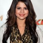 Selena Gomez Long Wavy Hairstyles 2012