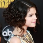 Selena Gomez Medium Curly Hairstyles 2012