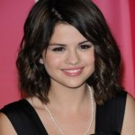 Selena Gomez Medium Wavy Hairstyles 2012