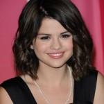 Selena Gomez Medium Wavy Hairstyles 2012