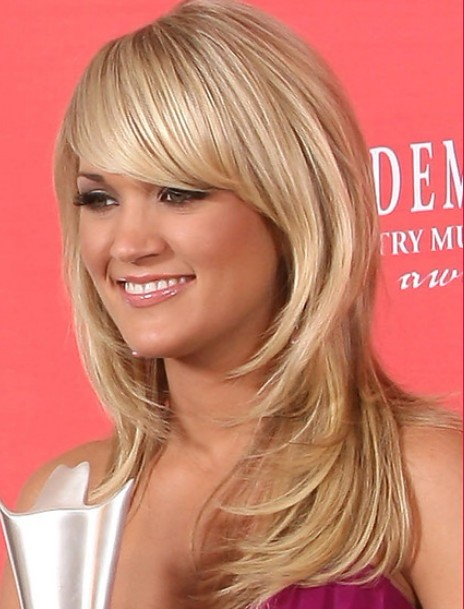 Carrie Underwood Long Straight Hairstyles 2012 Popular