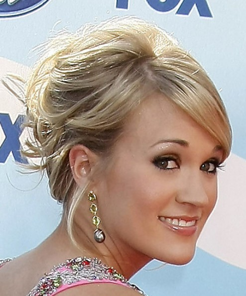 Carrie underwood updo hairstyles 2012