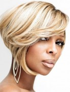 Mary J. Blige Short Bob Haircuts