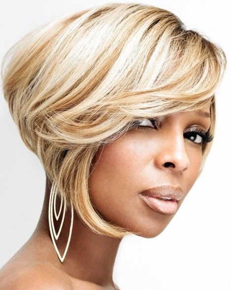 Mary J Blige Short Bob Haircuts