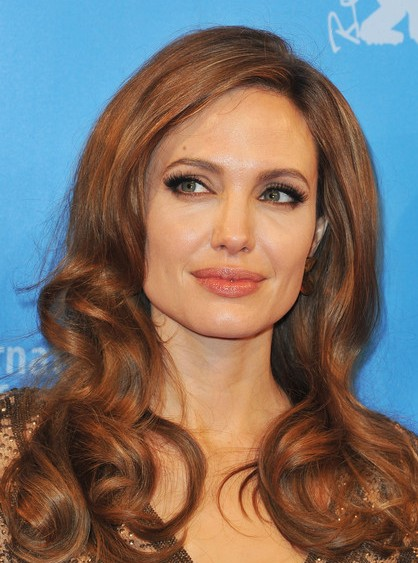 Angelina Jolie Long Curly Hairstyles 2013