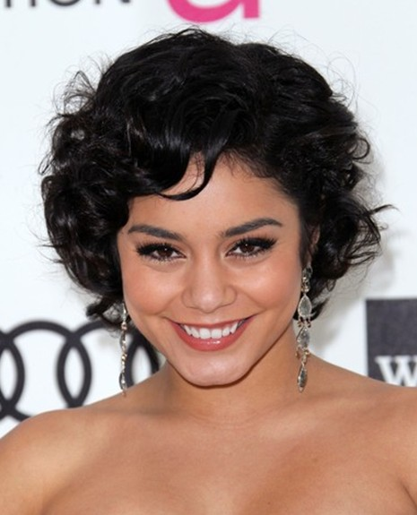 Vanessa Hudgens Cute Short Curly Hairstyles PoPular Haircuts