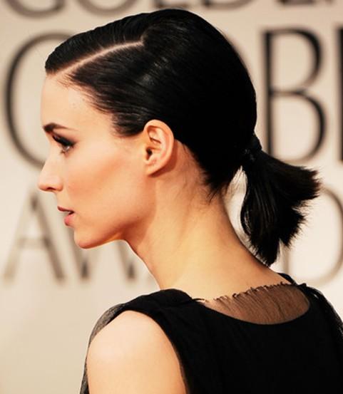 Rooney Mara Short Ponytail Hairstyles