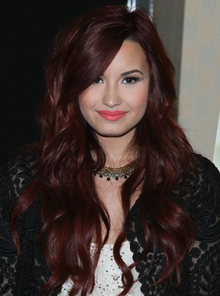 Demi Lovato Wavy Hairstyles 2013