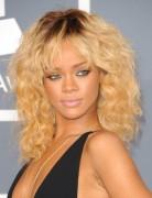 Rihanna Long Curly Hairstyle