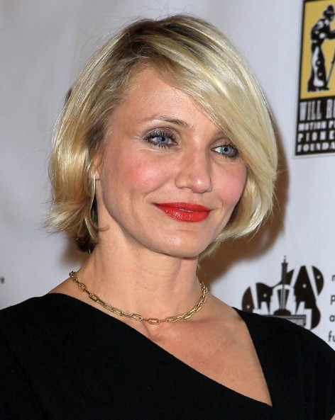 Cameron Diaz Short Bob Hairstyles 2013 Popular Haircuts