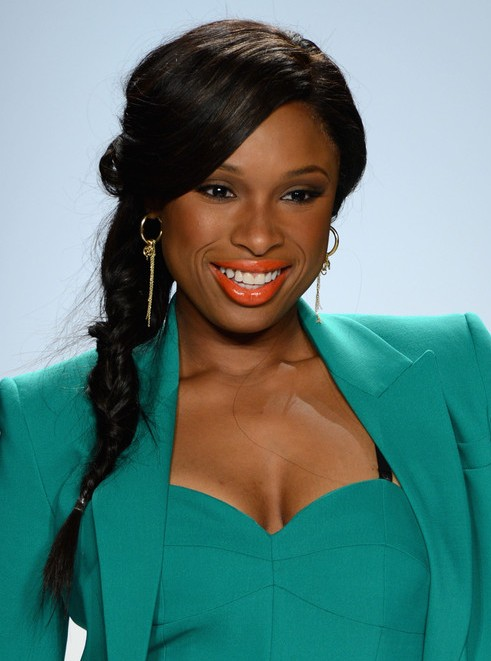 Jennifer Hudson Ponytail Hairstyle For Black Long Hair