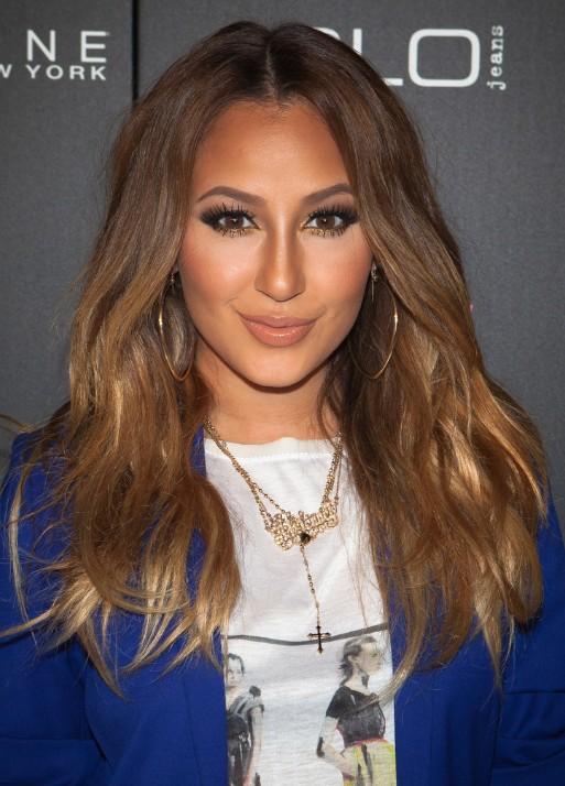 Adrienne Bailon Brown Long Hairstyles 2013