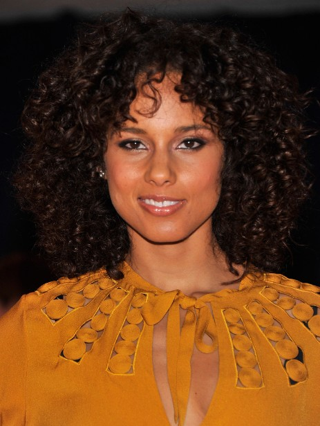 alicia keys brown medium curly hairstyles popular haircuts