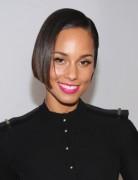 Alicia Keys Straight Short Bob Hairstyles 2013