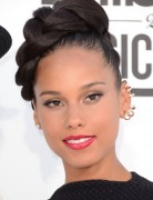 Alicia Keys Trendy Braided Updo Hairstyles 2013