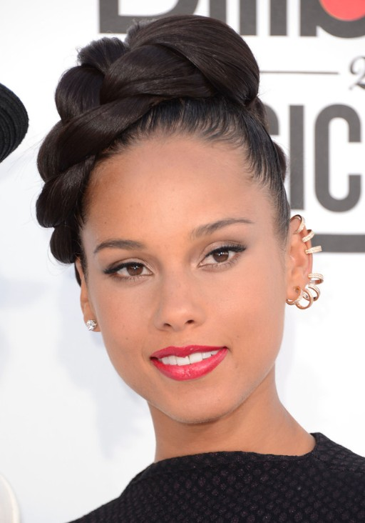 Alicia Keys Braided Updo Hairstyles Popular Haircuts