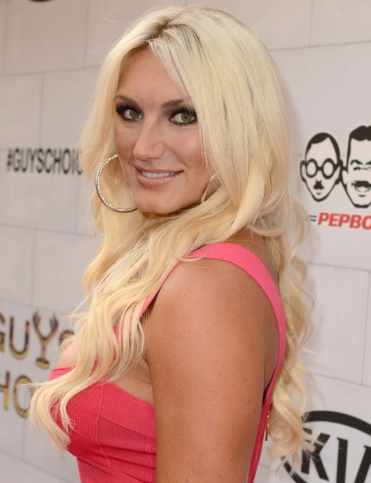 Brooke Hogan Light Golden Blonde Long Hairstyles