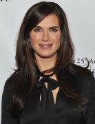 Brooke Shields Long Straight Hairstyles 2013