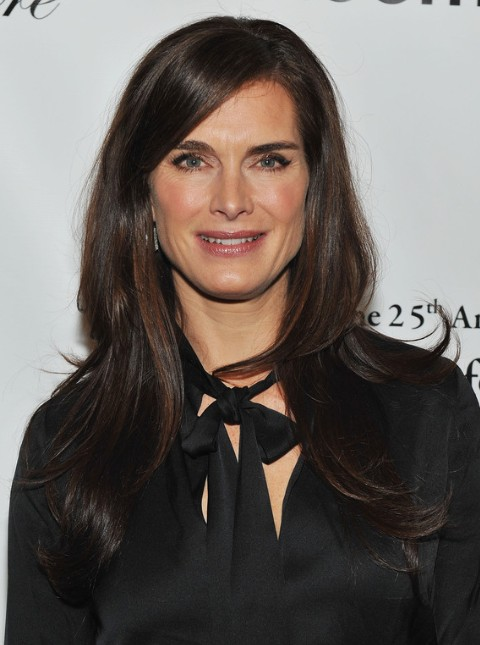 Brooke Shields Long Straight Hairstyles For Women