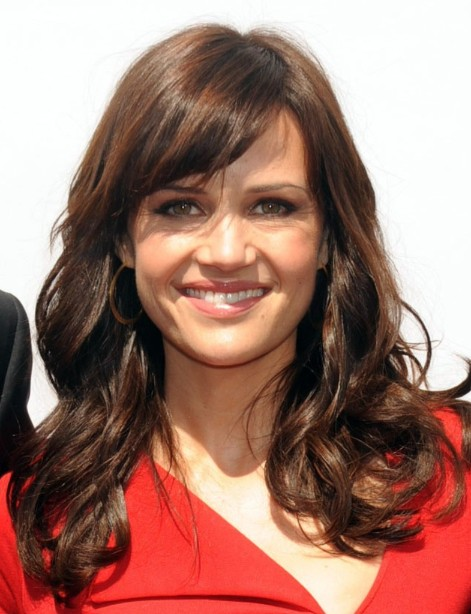 of Carla Gugino Long Hairstyles with Side Bangs - Wiki: Carla Gugino