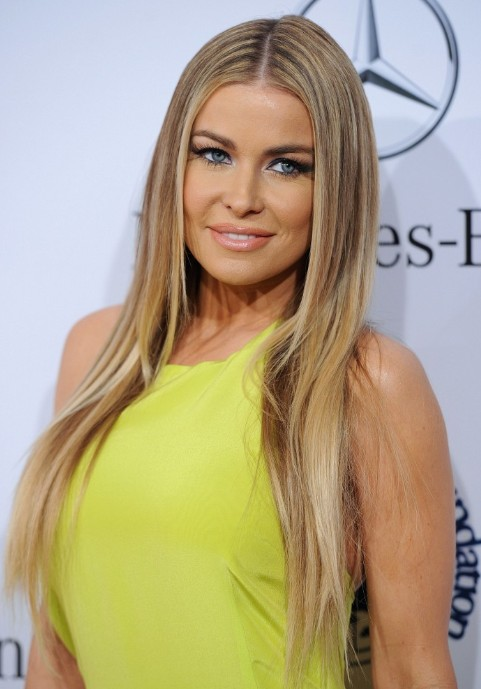 Carmen Electra Long Straight Hairstyles 2013