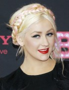 Christina Aguilera Braided Chignon Hairstyles 2013