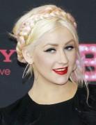 Christina Aguilera Braided Chignon Hairstyles 2013