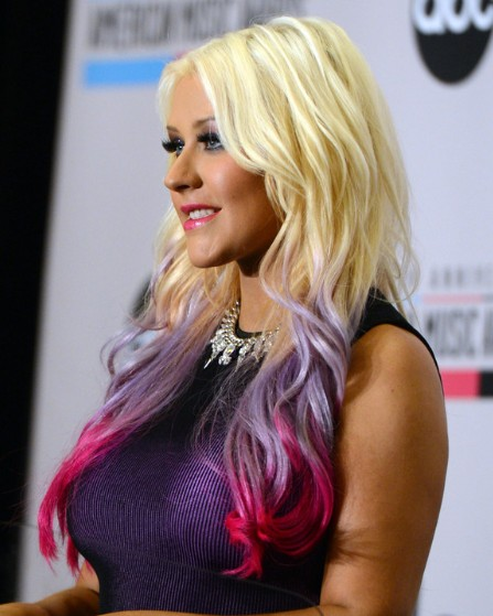 Christina Aguilera Trendy Long Layered Hairstyles 2013