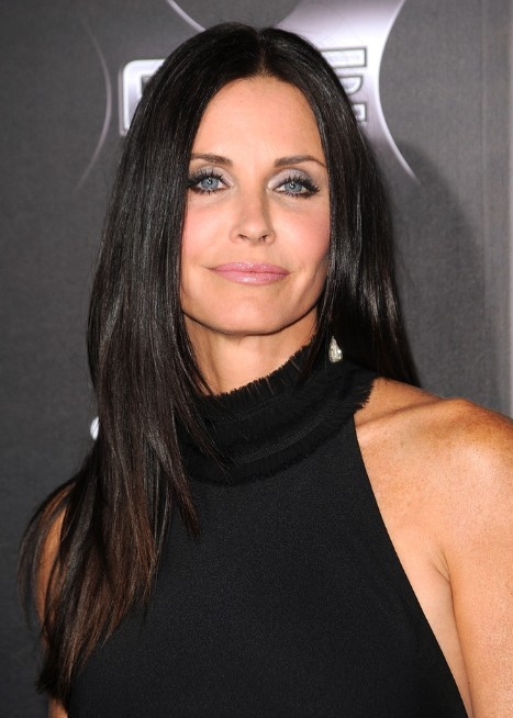 Courteney Cox Long Straight Hairstyles 2013