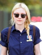 Dakota Fanning Blonde Braided Hairstyles 2013