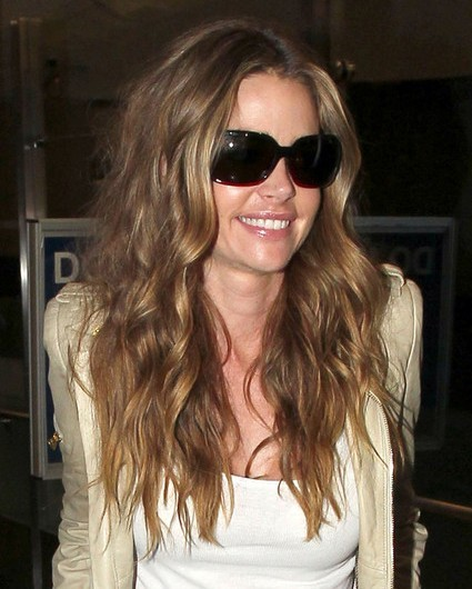 Denise Richards Layered Long Wavy Hairstyles Popular