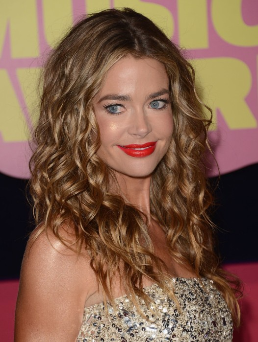 Denise Richards Long Wavy Hairstyles 2013