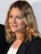 Drew Barrymore Blonde Medium Wavy Hairstyles 2013
