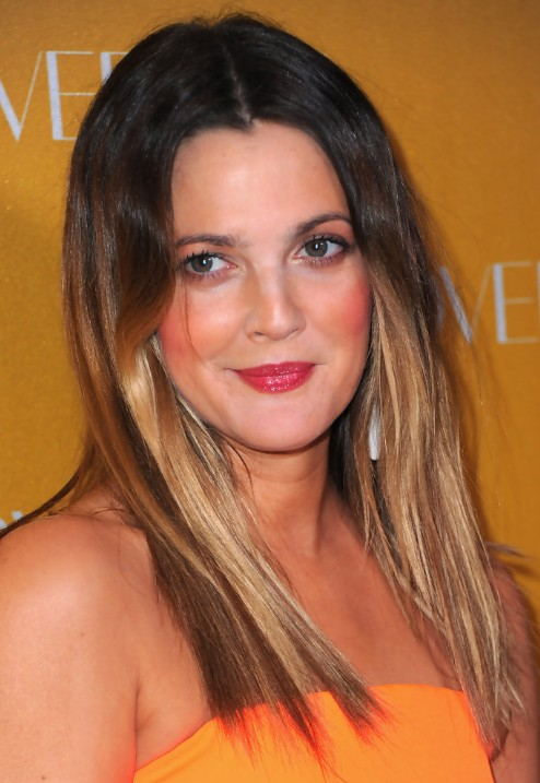 Drew Barrymore Medium Straight Haircuts Popular Haircuts