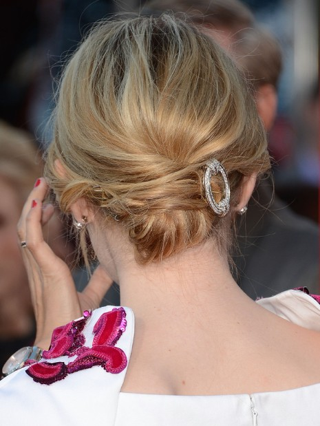 emma stone chignon hairstyle for medium hair popular