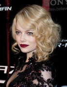 Emma Stone Medium Waves Curly Hairstyles 2013 for Prom