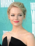 Emma Stone Updo Hairstyle for Medium Hair
