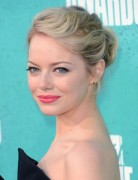 Emma Stone updo hairstyles for Prom