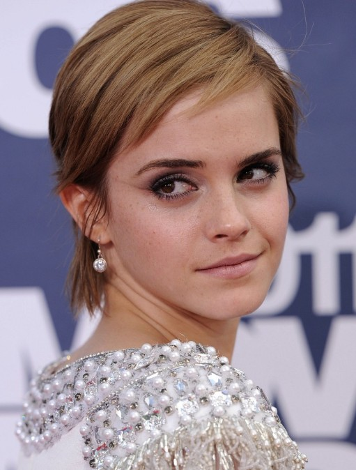 Emma Watson Cute Short Straight Haircuts
