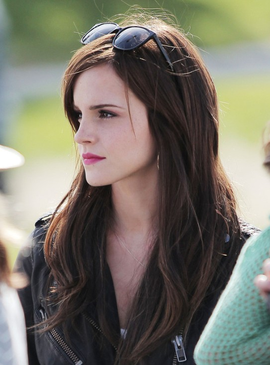 Emma Watson Easy Long Layered Hairstyles