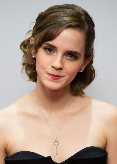Emma Watson Formal Medium Hairstyles 2013