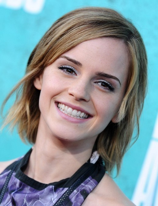 Emma Watson Medium Short Layered Haircuts